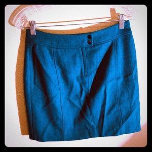 👠NEW ITEM👠EUC H&M teal chevron wool mini skirt